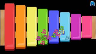 kids musical game/kids colouring music sound game