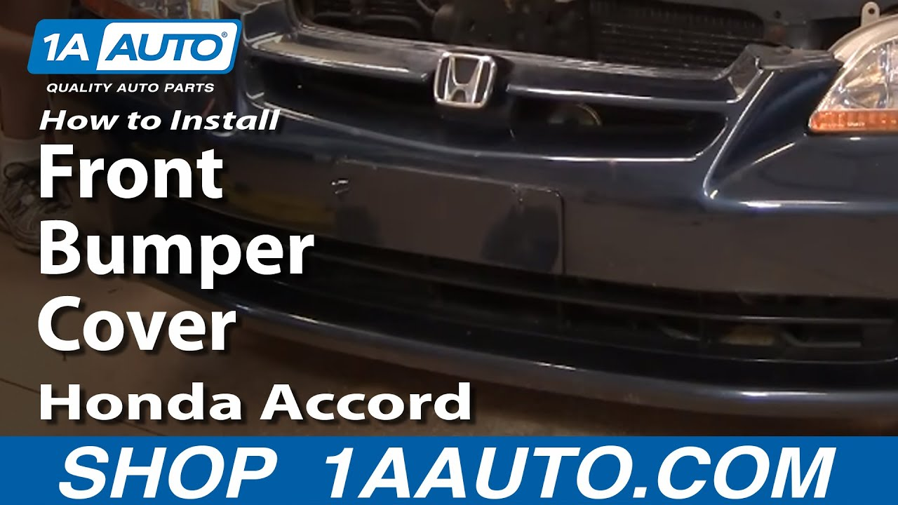 How To Replace Front Bumper Cover 98-02 Honda Accord - YouTube