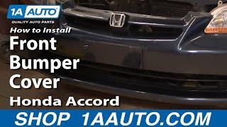 How To Install Repair Replace Front Bumper Cover Honda Accord 4 door 98-02 1AAuto.com