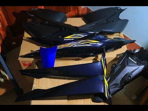 Đập hộp dàn áo Wave RSX 100 2008 Xanh đen - Unboxing Honda Wave 100X Cover Parts - Part 2