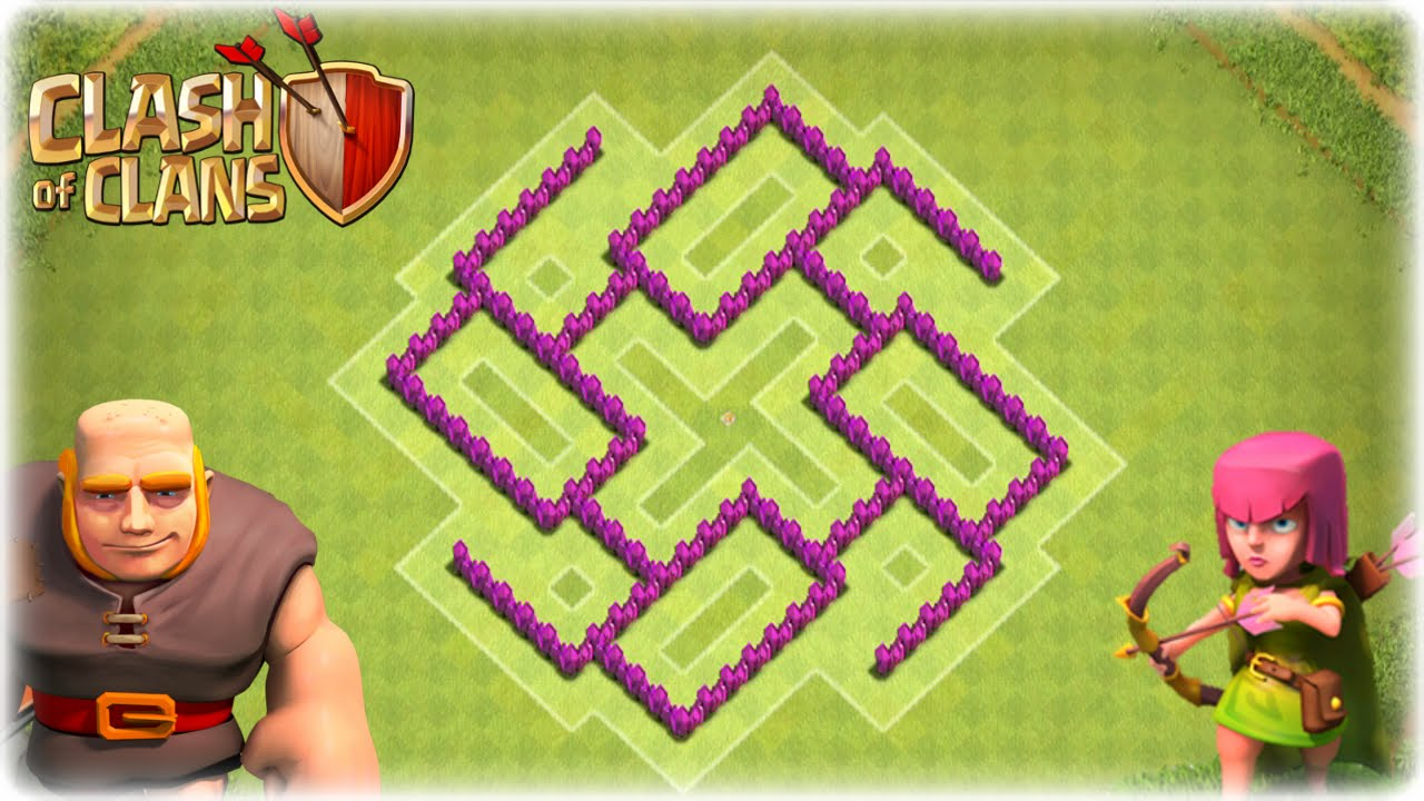 Clash of clans awesome th6 hybrid base hurricane youtube