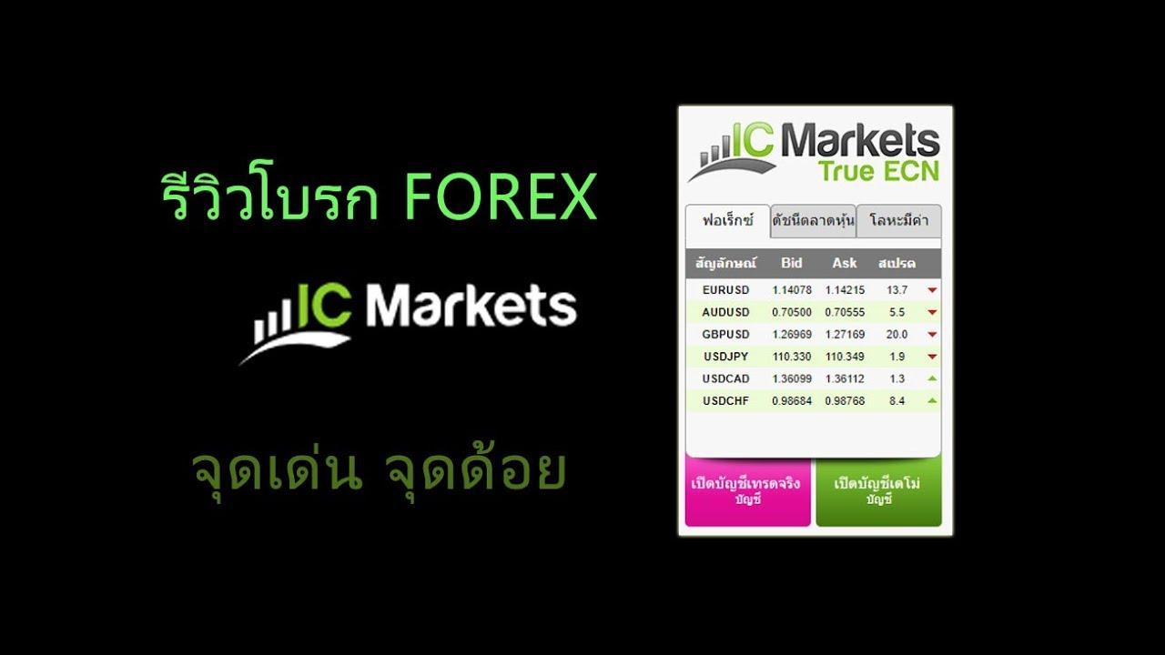 รีวิว โบรก Forex IC Markets จุดเด่น จุดด้อย