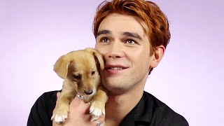 KJ Apa Plays With Puppies While Answering Fan Questions