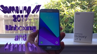 samsung galaxy j7 2017 j7 perx j7v unboxing and hands on
