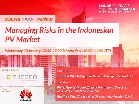 Solarplaza Webinar: Managing Risks in the Indonesian Solar PV Market