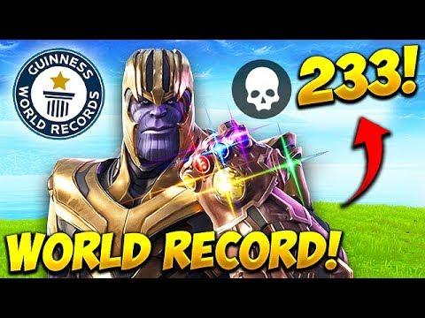 *WORLD RECORD* 233 KILLS AS THANOS! - Fortnite Funny Fails and WTF Moments! #539