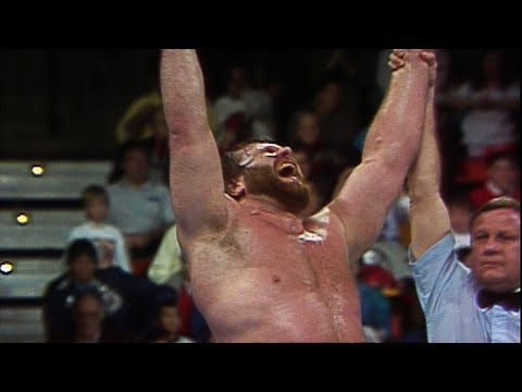 """Hacksaw"" Jim Duggan wins the inaugural Royal Rumble Match"