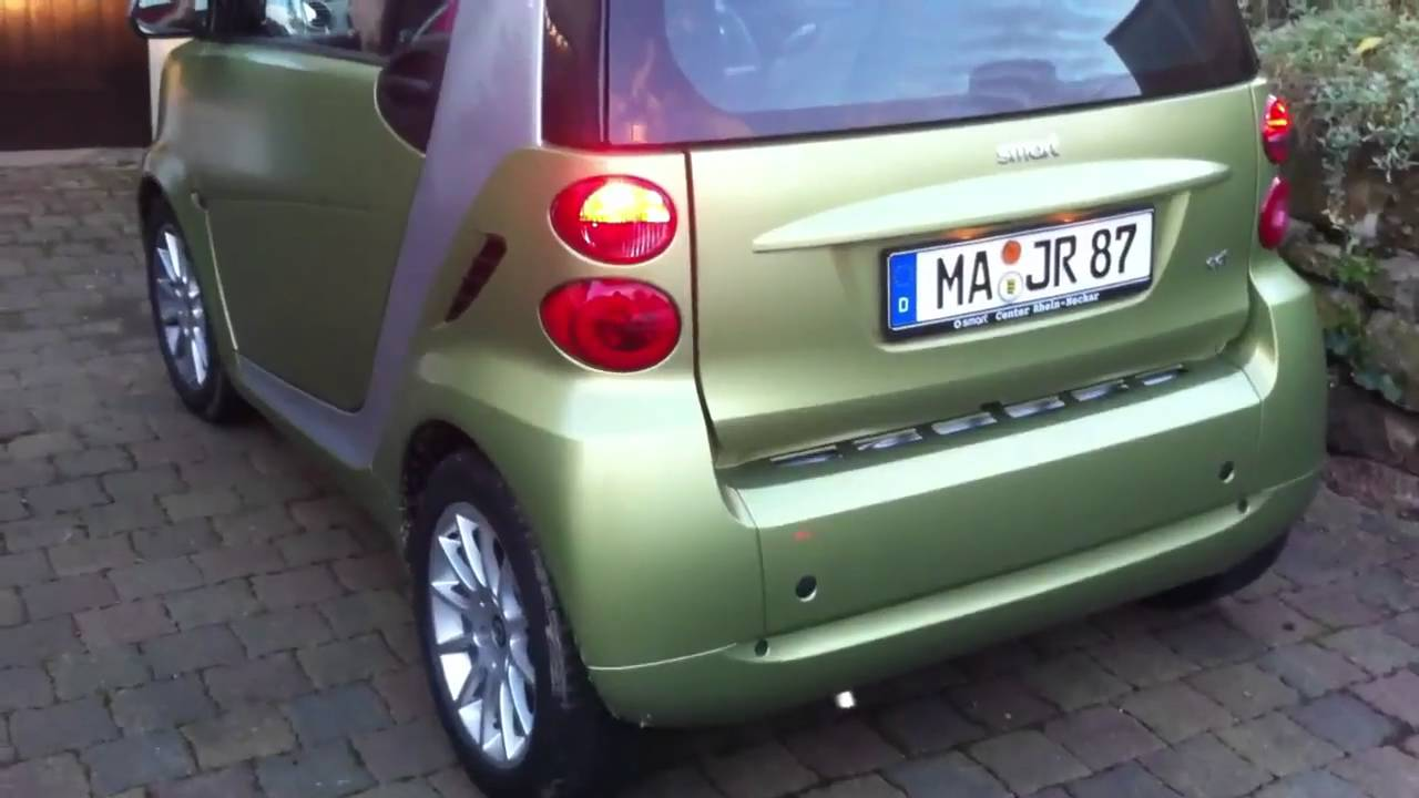 smart fortwo with new sports exhaust sportauspuff youtube. Black Bedroom Furniture Sets. Home Design Ideas