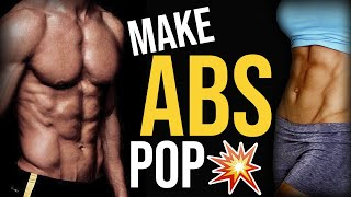 How To Get Your Abs To Pop Out And Show More ? 4 TIPS