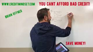 Credit Repair: You can't afford NOT to do it!