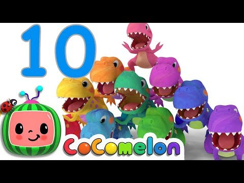 Dinosaurs T-Rex Number Song - ABCkidTV
