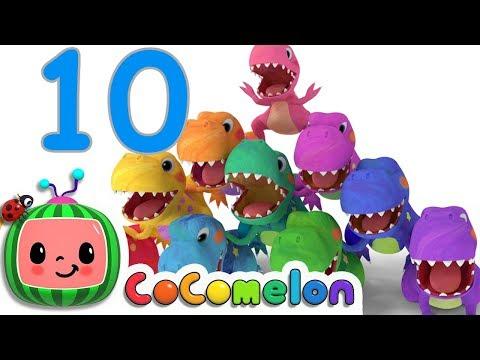 Dinosaurs T-Rex Number Song | CoCoMelon Nursery Rhymes & Kids Songs