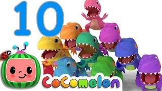 All the little dinos are in the gym counting all the numbers from o...