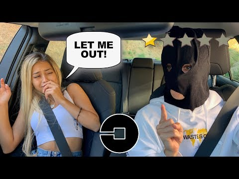 PICKED UP my GIRLFRIEND in an UBER UNDER DISGUISE! (bad idea)