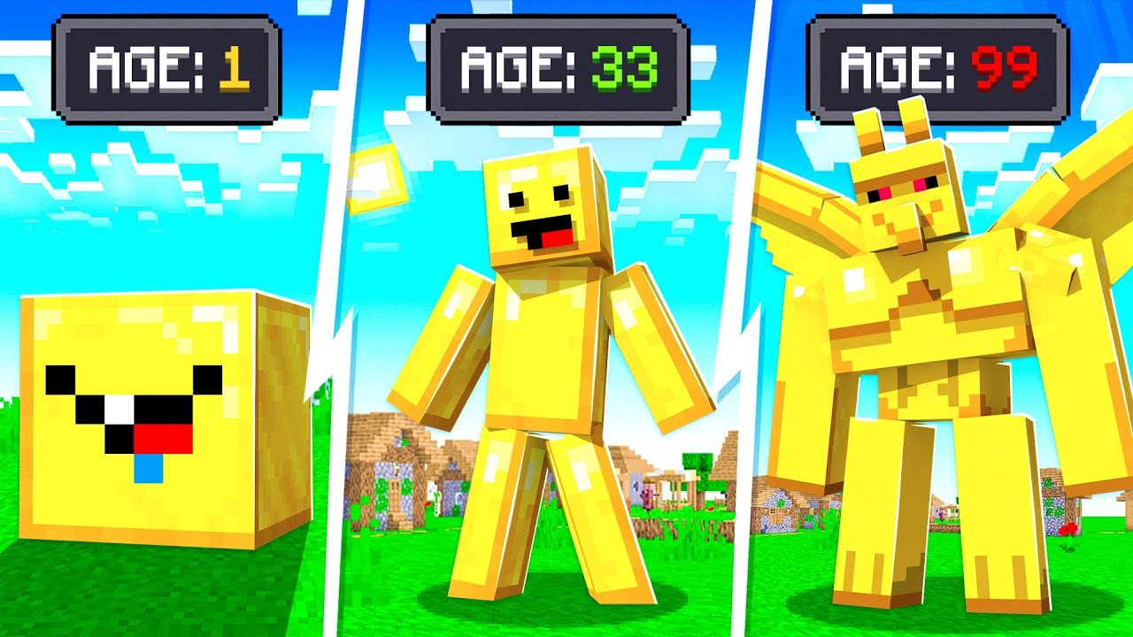 Evolving as GOLD KING MIDAS in MINECRAFT!
