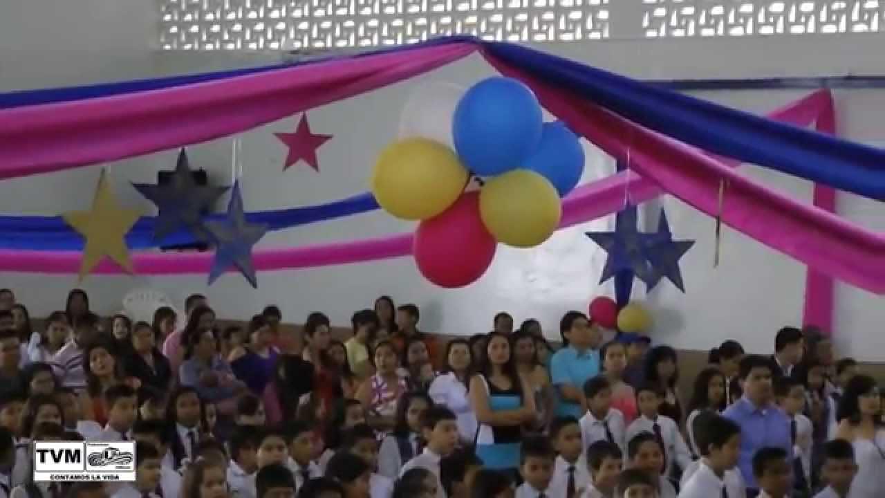 Ceremonia De Clausura Grado Quinto Educación Básica Primaria Its Bucaramanga Noviembre De 2012