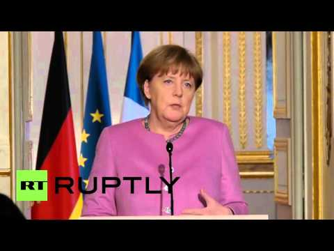 France: Merkel says Europe and Russia united over Syria ceasefire