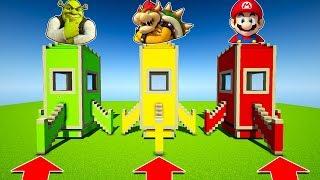 NE MONTER PAS DANS LA MAUVAISE FUSÉE ! MINECRAFT ! Shrek, Bowser, Mario