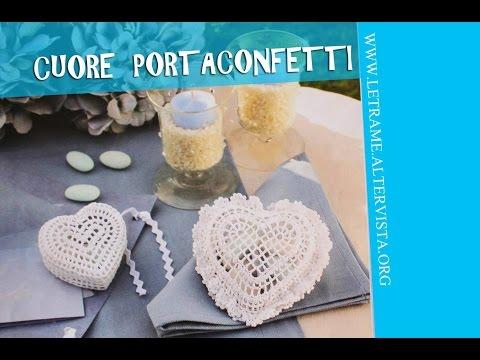 Tutorial Bomboniera All Uncinetto Scrigno A Cuore Crochet 13