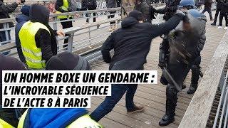 Un homme boxe un gendarme, l'incroyable séquence de l'acte 8 à Paris