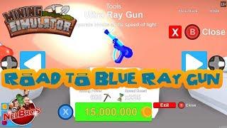 Mining SIMULATOR in ROBLOX - Road to BLUE RAY GUN - EPIC UNLOCKS!