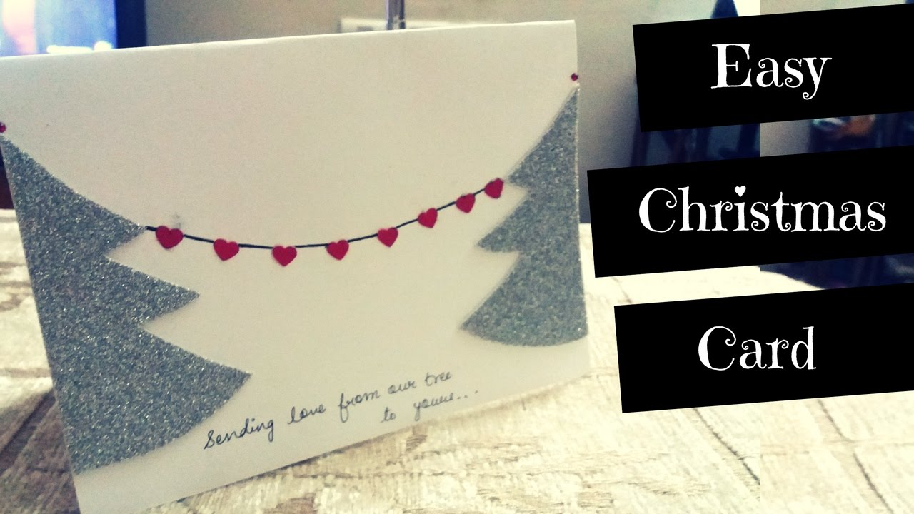 how to make easy greeting cards for christmas