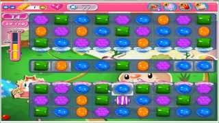 Candy Crush Saga Level 77 - No Boosters (with commentary)