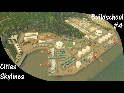 Cities Skylines Buildschool Epi 4 How to build an International Harbor