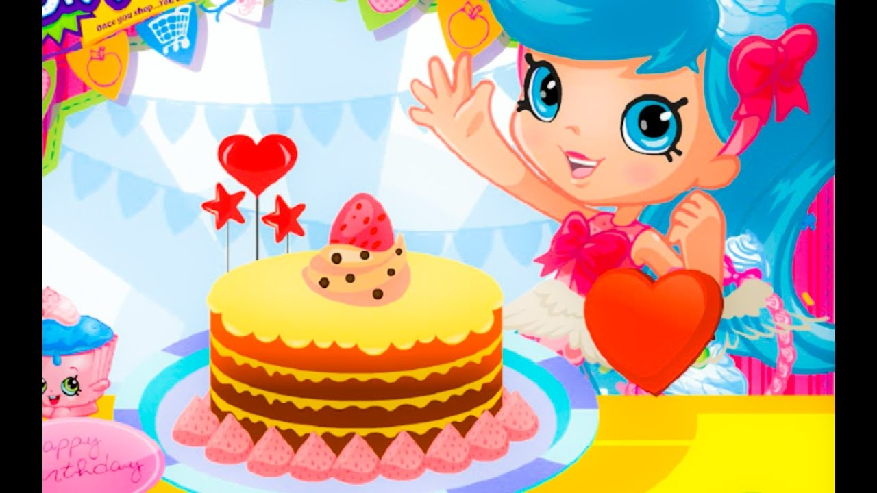 Shopkins Birthday Cake Decoration Cartoon Game Movie For Kids
