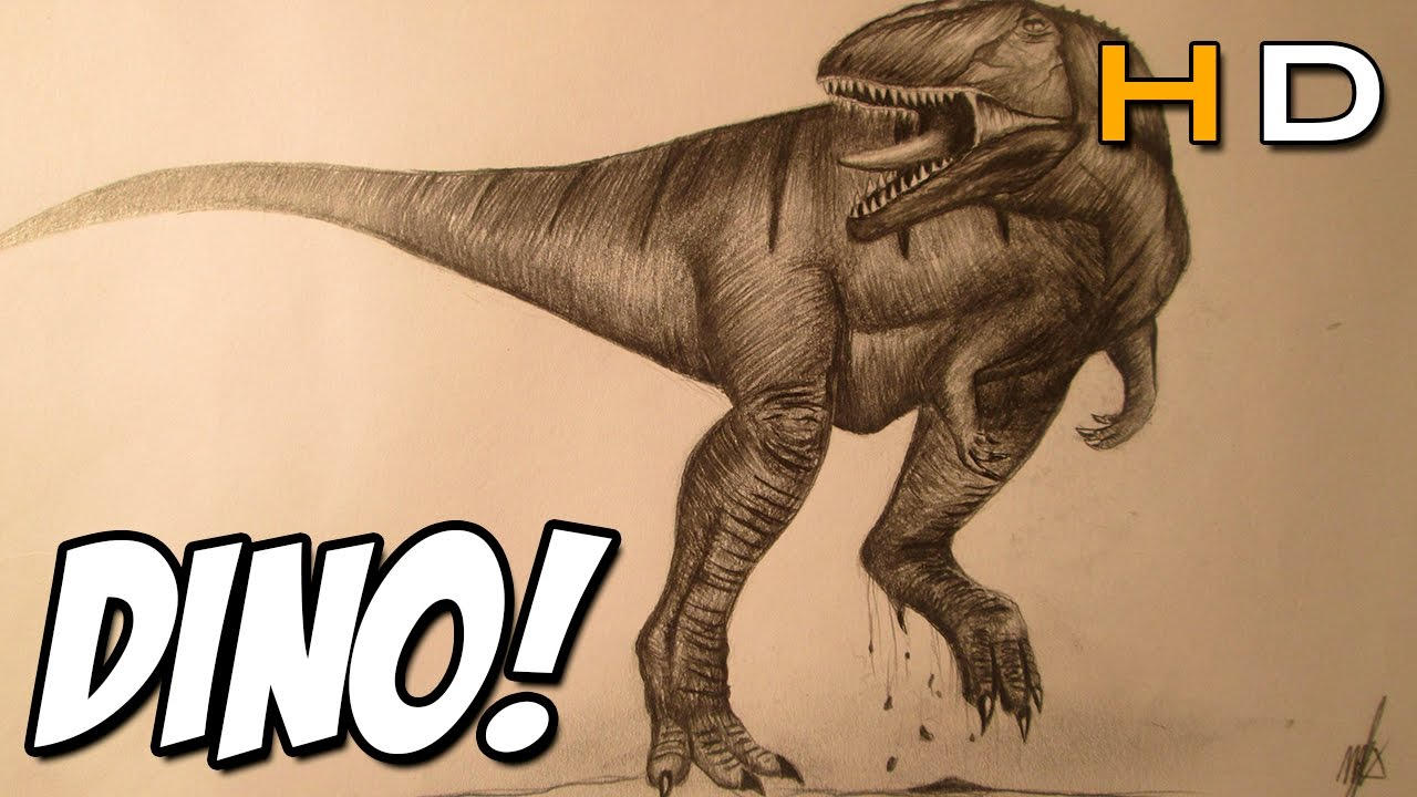 Uncategorized How To Draw A Realistic Dinosaur how to draw a realistic dinosaur with pencil step by timelapse youtube