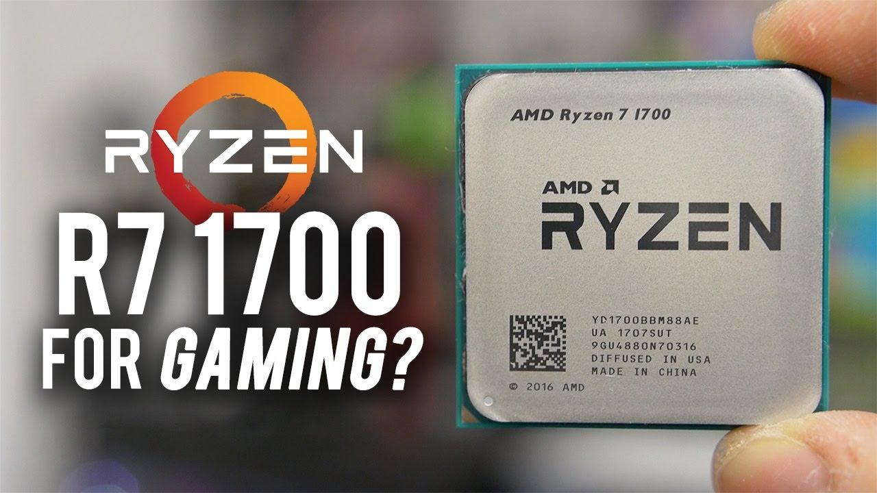 Ryzen R7 1700 GAMING BENCHMARKS (7 games tested vs. 7700K!)
