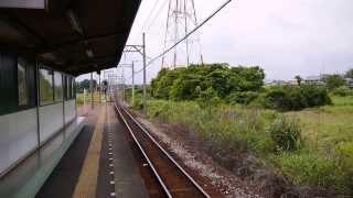 三岐鉄道 北勢線 七和駅 原っぱに囲まれた無人駅です。