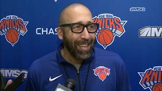 David Fizdale On What The Knicks Can Do Better | New York Knicks Practice