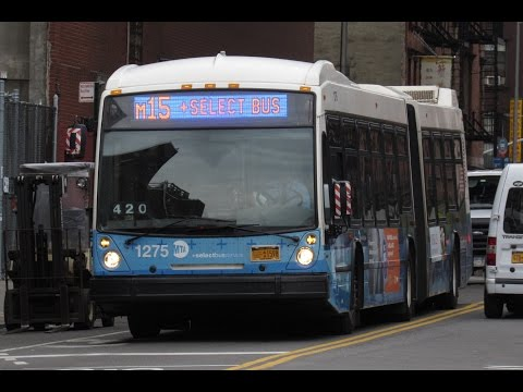 MTA NYC Bus: On Board 2010 Nova Bus LFSA [#1253] M15 +SBS to South Ferry w/ New Info Board