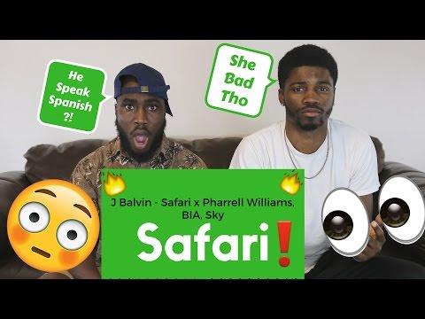 J Balvin - Safari ft. Pharrell Williams, BIA, Sky Official Reaction