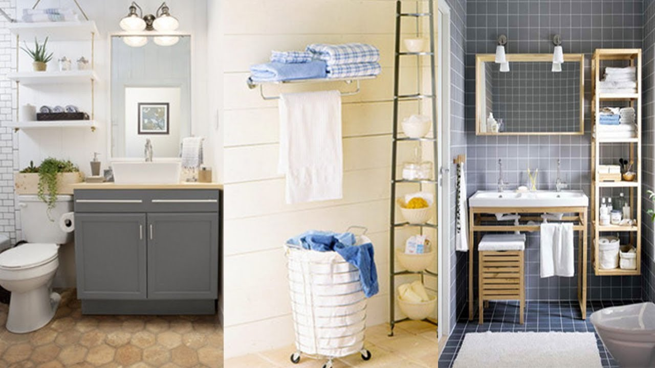 10 Storage Ideas for Small bathrooms - YouTube