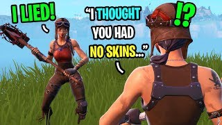 This RENEGADE RAIDER thought I had NO SKINS until I put on MY Renegade Raider...