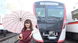 本日私は、浅草線新型車両「5500形」の試乗会に来ております。車両のコ...