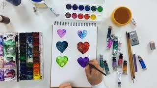 Акварельные эффекты для начинающих. Как научиться рисовать акварелью.  Watercolor effects