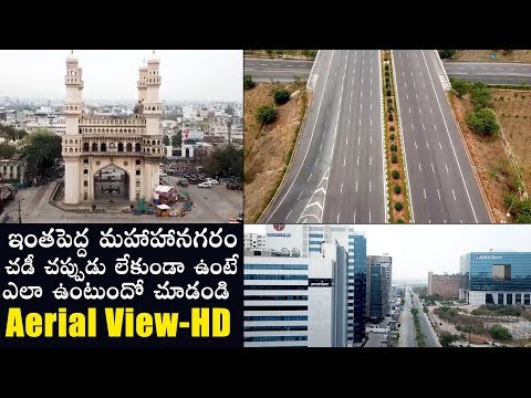 Aerial View of Hyderabad | LockDown | Political Qube