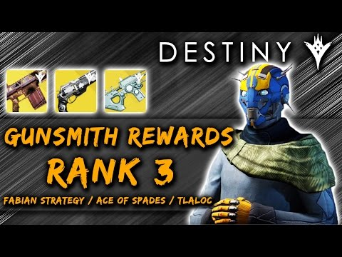 Destiny | Gunsmith Rank 3 Rewards! [The Taken King]