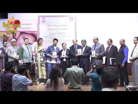 Armaan Malik Felicitated At International Commerce & Mgmt  Conference At Mumbai University Part-2