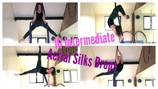 10 Intermediate Aerial Silks Drops | UNIQUE AERIALISTS