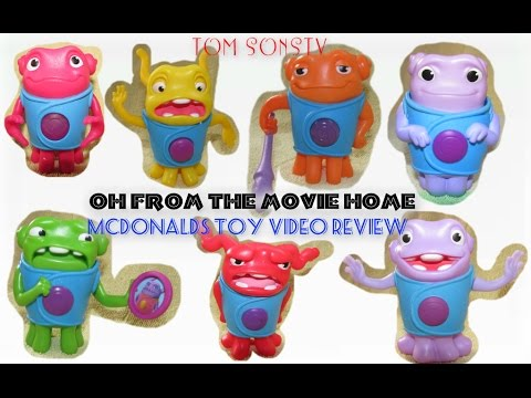 HOME Dreamworks 2015 Movie Mcdonald's Video Toy Review ...