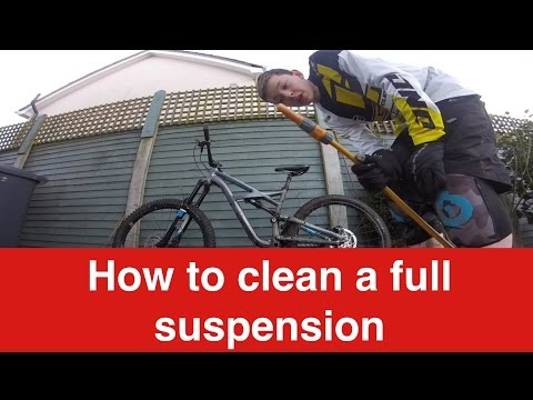 How to clean a full suspension mountain bike
