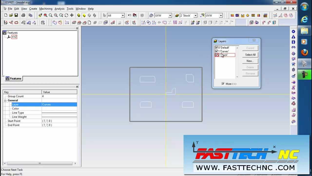 โปรแกรม ESPRIT 2012 Layers Wire EDM Wire Cut Cimatron Thai - YouTube