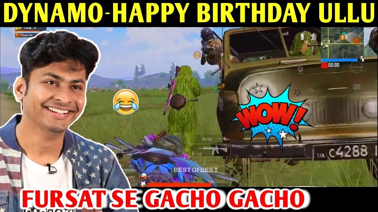 DYNAMO - HAPPY BIRTHDAY ULLU | PUBG MOBILE | BEST OF BEST