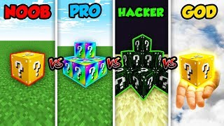 Minecraft NOOB vs. PRO vs. HACKER vs. GOD: LUCKYBLOCK in Minecraft! (Animation)
