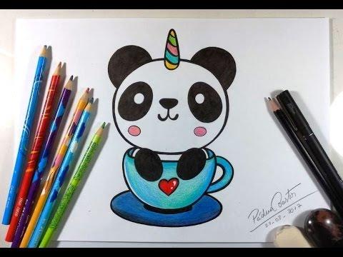 Como Desenhar Panda Unicornio Kawaii Passo A Passo Youtube