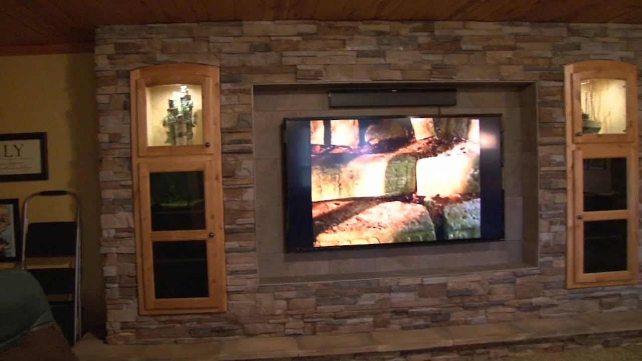 complete wall fireplace project youtube
